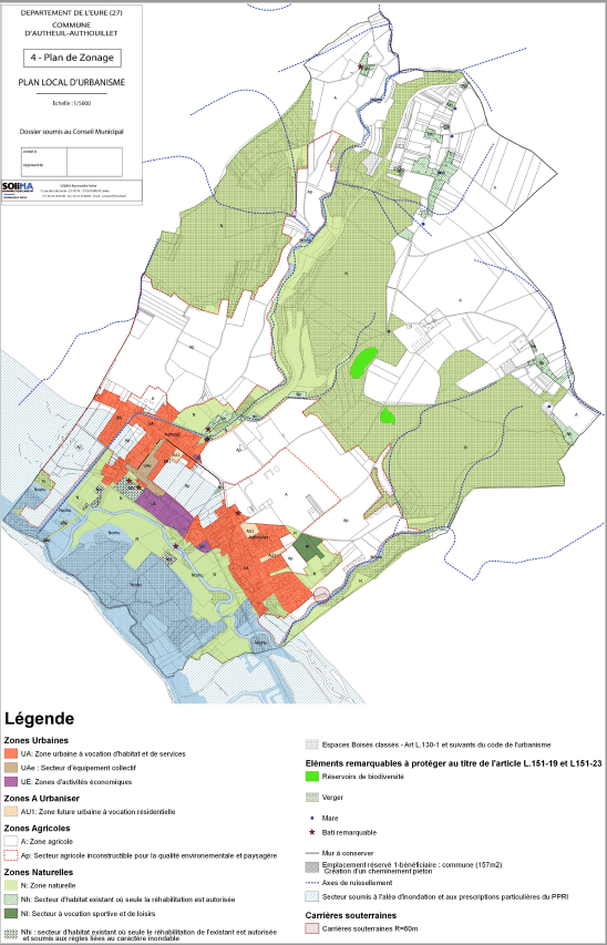 Exemple de Plan de zonage-PLU Autheuil-Authouillet
