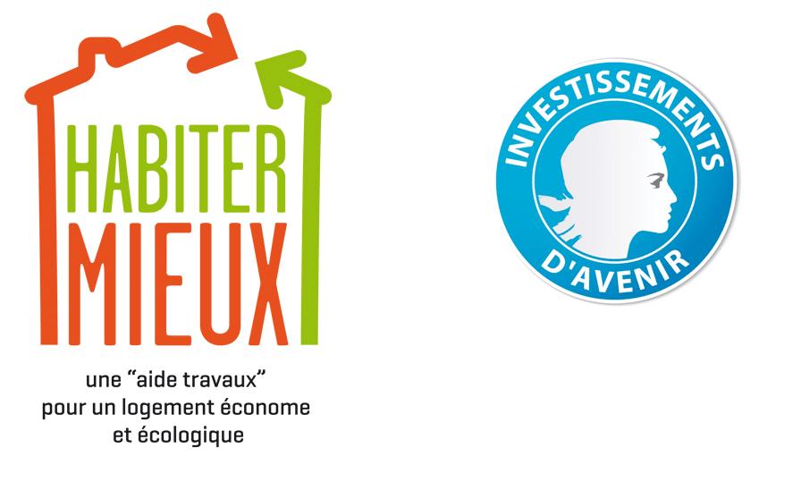 logo Habiter Mieux + investissement d'avenir